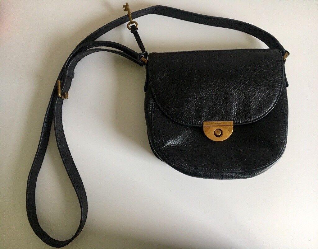 0df5203678 Fossil black leather crossbody bag. Aberdeen £45.00