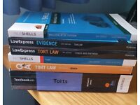 Five law books on Tort