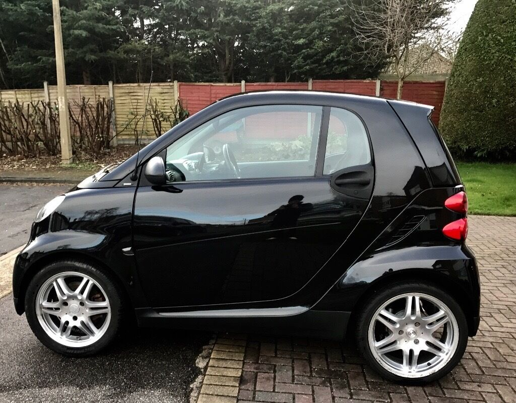 Smart Car Fortwo Black Brabus Upgrades Pioneer Stereo