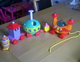 In the Night Garden Ninky Nonk activity train, excellent condition lights and plays 3 tunes