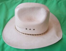 WESTERN COWBOY STRAW HAT SIZE 6 7/8