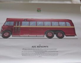 South Wales Transport 75th Anniversary Poster - AEC Renown