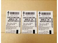 Chessington world of adventures, 3 tickets for 28/06/18