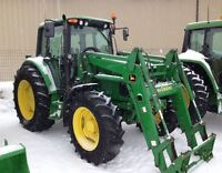 2002 John Deere 6420 4WD Tractor with Cab & Loader
