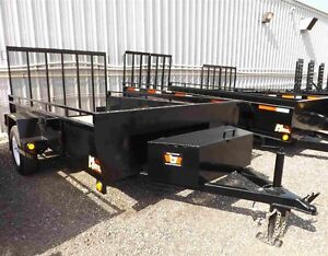 6'x12' Utility Trailer - Contractor Model - Loaded