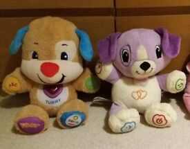 LeapFrog My Pal Violet Dog + Fisher Price Laugh & Learn Smart Stages Puppy