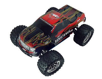 Painted Red Body For Redcat Volcano S30 1/10 Nitro RC Monster Truck