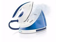 Philips GC7015/20 PerfectCare Viva 2400W Steam Generator Iron with 170g Steam Boost, Blue/White