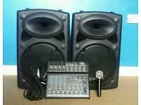 QTX Active speakers and mixer