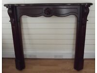 Mahogany Effect Fire Surround