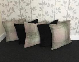 Five large cushions Three from next and two from dfs in good condition