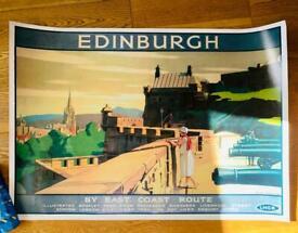 Edinburgh LNER vintage poster