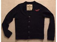 Brand new large men's Hollister Cardigan. Dark blue. Mint condition. RRP £60
