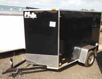 5' Wide Enclosed Cargo Trailers by Miska Trailers