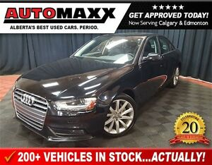 2014 Audi A4 2.0 Komfort w/Leather/Sunroof!