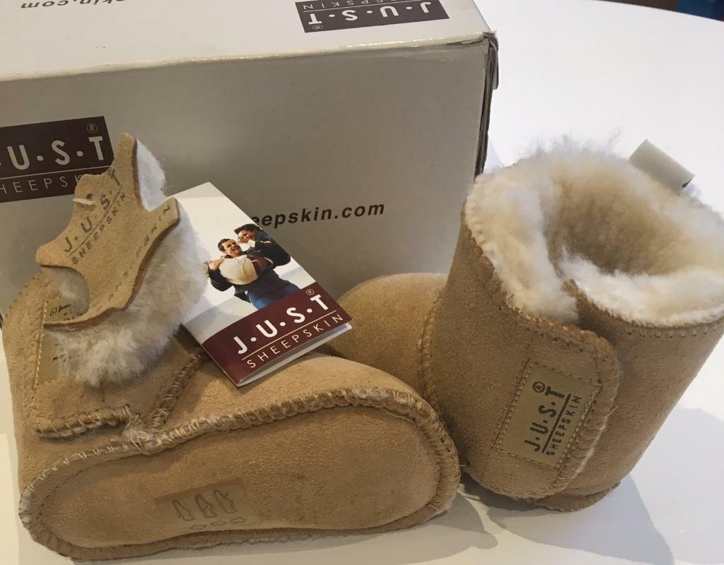 Just Sheepskin Baby Boots (New)