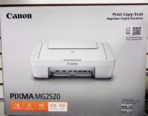New, Canon PIXMA MG2520 Photo All-in-One Inkjet Printers (Ink not included)