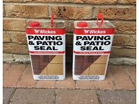 Two 5 litre cans of Wickes Paving and Patio Sealer