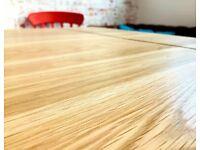 AB Grade Extending Oak Farmhouse Dining Table - All Sizes - Any Farrow & Ball Colour