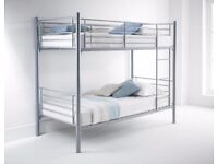 FEB SALE OFFER == Metal Bunk Bed with ECO Mattress - SAME/NEXT DAY DELIVERY!