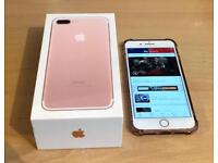 Excellent condition iPhone 7Plus 256gb Unlocked Rose Gold