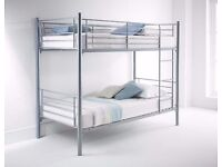 **7-DAY MONEY BACK GUARANTEE!**- Metal Bunk Bed with 2 x Mattresses - Bunkbed - SAME DAY DELIVERY!