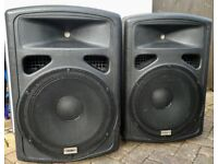 SPEAKERS, BAND, DISCO, PUBLIC ADDRESS STUDIOSPARES FORTISSIMO 15 inch 300 watt PASSIVE P.A. SPEAKERS