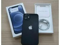 Apple iPhone 12 64GB black unlocked boxed mint warranty