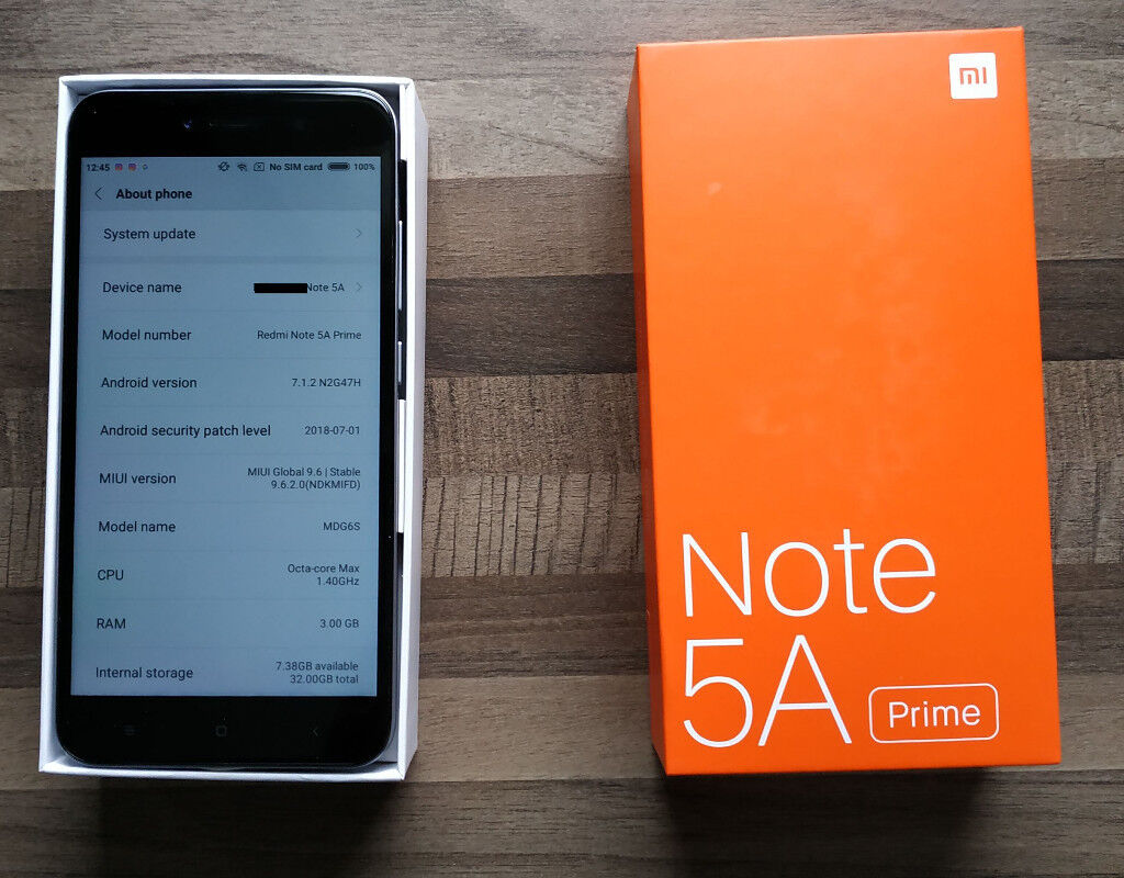 Xiaomi Redmi Note 5A Prime 3GB/32GB Global Dual-SIM Dark Grey Unlocked Band  20 Android phone   in Newlands, Glasgow   Gumtree
