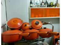 Le creuset vintage pans and casserole dishes
