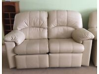 MINT CONDITION Two, Two Seater G Plan Ivory Double Leather Sofas.