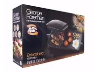 Brand New George Foreman Fat Reducing Health Grill 10 portion (Model 18603)