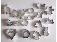 Assorted Metal Cookie Biscuit Cutters - 22 Total