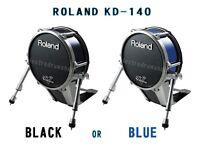 Roland V Drums 14 inch KD-140 Bass drum kick Trigger Mesh Electronic pad BLUE or BLACK TOP OF RANGE