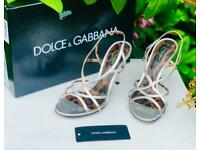 df1acb04d946 Dolce And Gabbana D&G Leopard Print Silver Grey High Heel Women Ladies  Shoes for sale Cheddleton