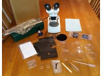 BRUNEL STEREO MICROSCOPE MX3 plus many accessories - see all photos
