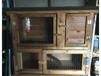 Rabbit run and hutch