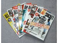 Bundle of 8 All Out Cricket Magazines