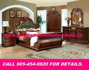 SOLID WOOD 7 PIECE BEDROOM SET  ...$2899 ONLY $2899.00
