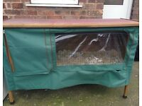 LARGE rabbit hutch + weather proof cover