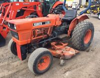 1984 Kubota L235 Compact Tractor with Mower & Snow