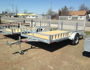 2-Place Duratrail Galvanized Utility/ATV Trailer