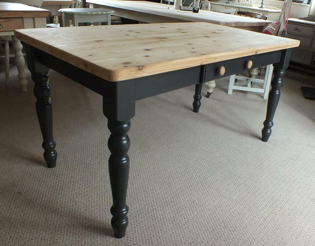 Shabby chic rustic scrubtop french inspired pine farmhouse for Rustic shabby chic dining table