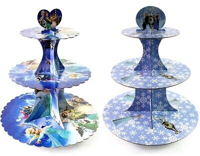 Disney Frozen Three-Tier Cupcake/Snack Stand/Centerpiece Holds 24 - Frozen Cupcake Stand