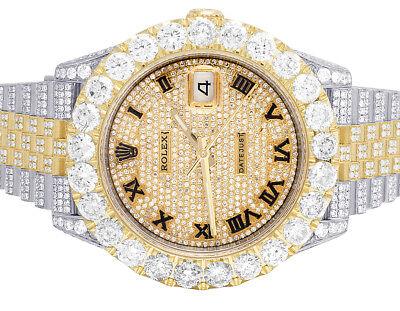 Mens Rolex Datejust II 126303 Two Tone 18K/Steel 41MM Full Diamond Watch 31.75Ct
