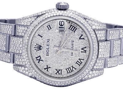Ladies Rolex Midsize Datejust 178270 31MM Oyster Full VS Diamond Watch 15.75 Ct