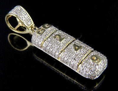10K Yellow Gold Alprazolam Xanax Gg 249 Drug Pill Tablet Diamond Pendant 1 2Ct