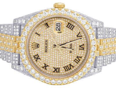 Mens Rolex Datejust II 126303 Two Tone 18K/ Steel 41MM Full Diamond Watch 25.5Ct
