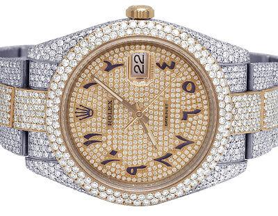 Rolex Datejust II 126331 41MM 18K Everose Steel Iced Out Diamond Watch 27.75 Ct