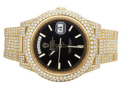 Rolex Day-Date II 40MM President 228238 18K Yellow Gold Diamond Watch 29.5 Ct